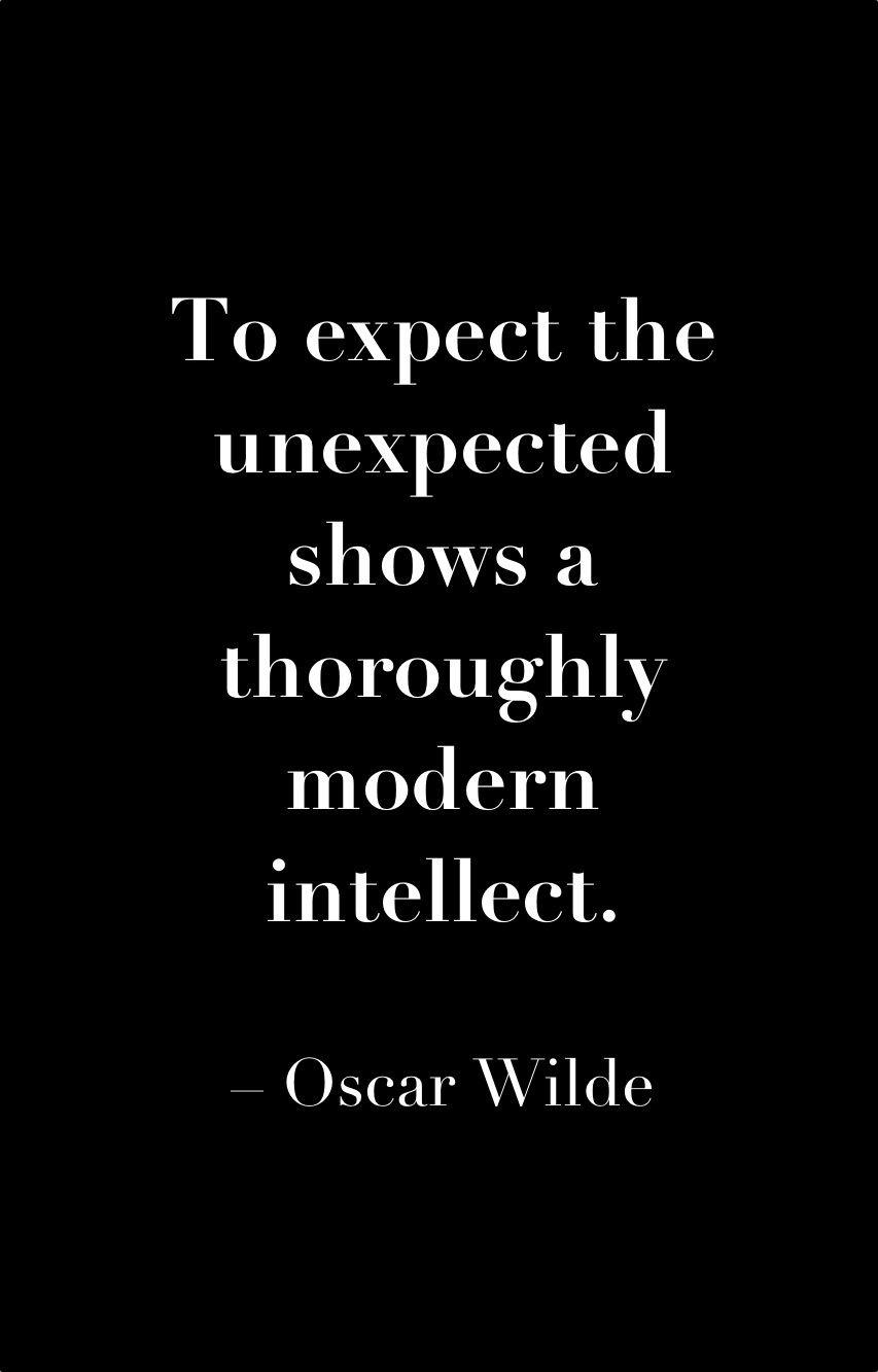 OscarWilde expect unexpected quote uniqueattire