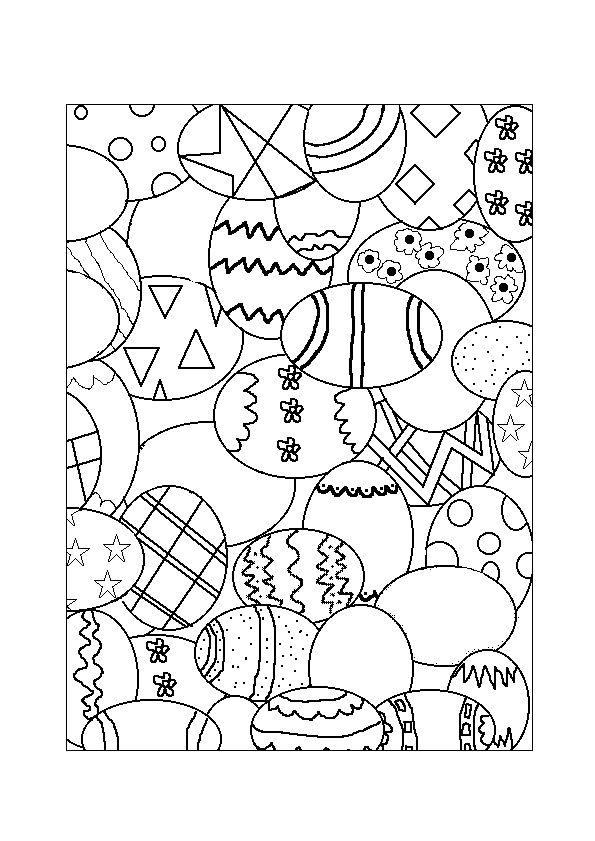 kleurplaten pasen placemat
