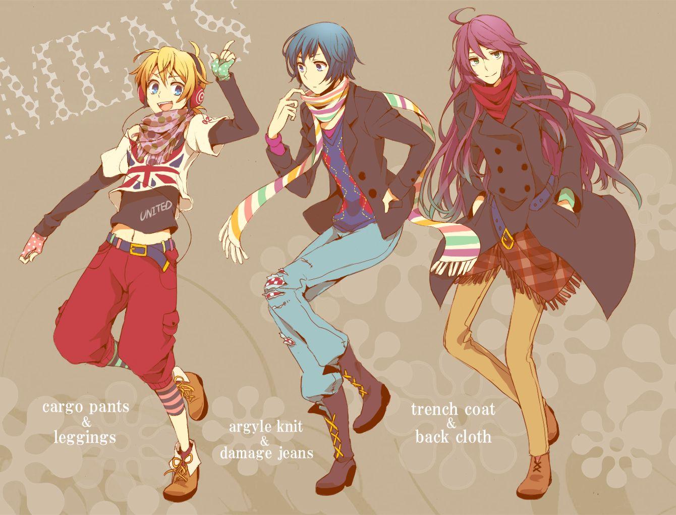 Vocaloid boy in casual / modern clothing anime fashion
