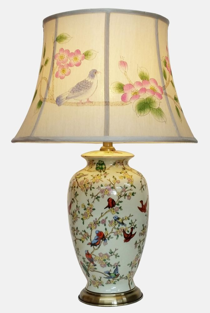 Large Oriental Ceramic Table Lamp M1011 Chinese Mandarin Style For Any Room Oriental Lamp Ceramic Table Lamps Lamp