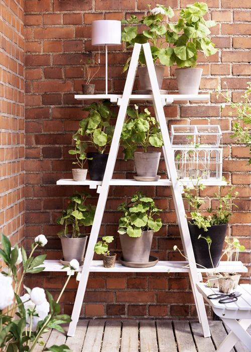 DIY Pflanzenstand Ideen #diyprojects # ideas # Pflanzenstand - Diyprojectgardens.club #wohnungbalkondekoration