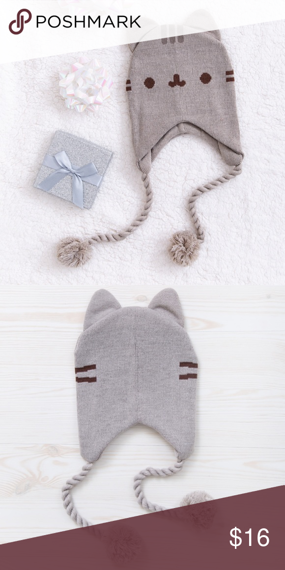 Pusheen apparel is this season s latest fashion. This adorable cat beanie  hat comes complete with attached ears c13d3428ece1