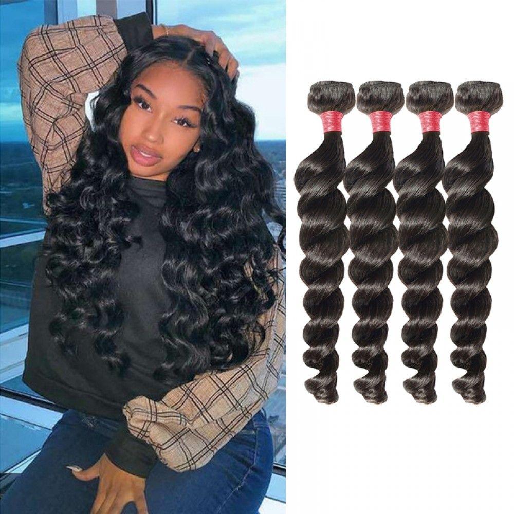 Segohair 8a 4 Bundles Loose Wave Virgin Malaysian Hair 400g