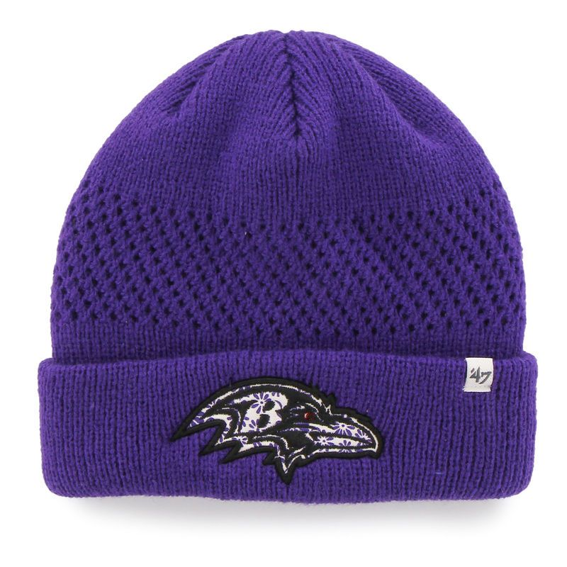 d33946e76 Baltimore Ravens  47 Brand Women s Poppie Cuffed Knit Hat - Purple ...