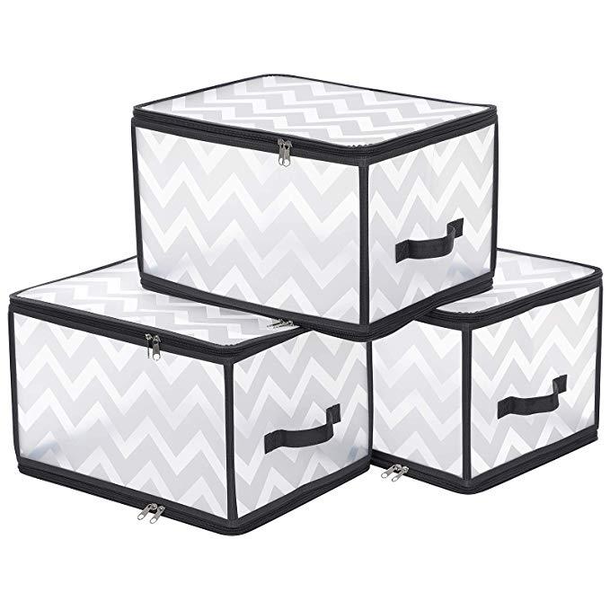 Amazon Com Songmics Large Storage Boxes Plastic Storage Bags