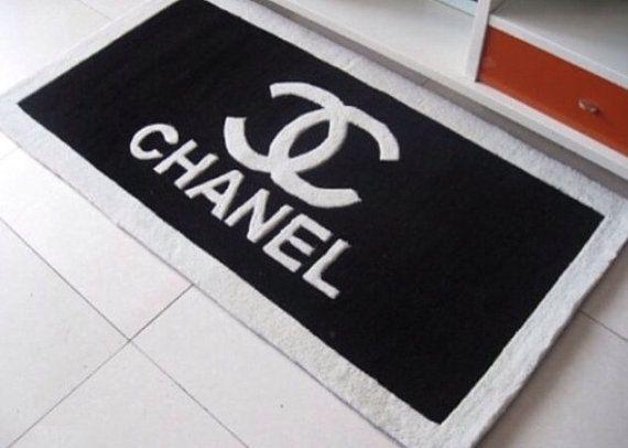 Chanel Logo Inspired Black Doormat Mat Rug By Madewithlovebylisae 120 00