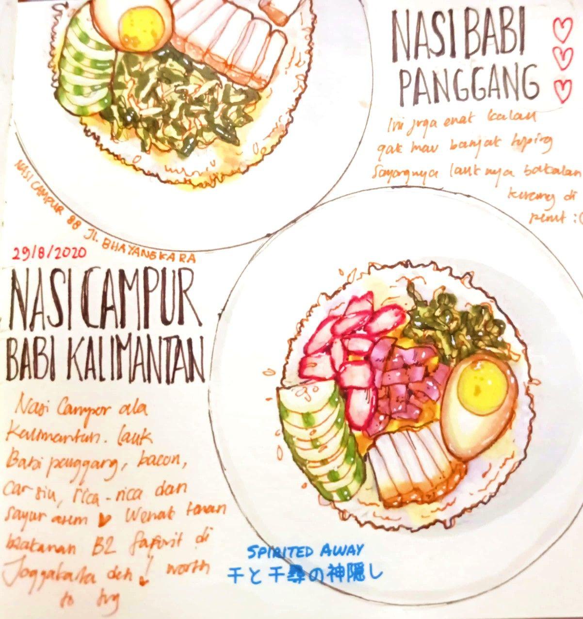Nasi Campur Kalimantan Panggang