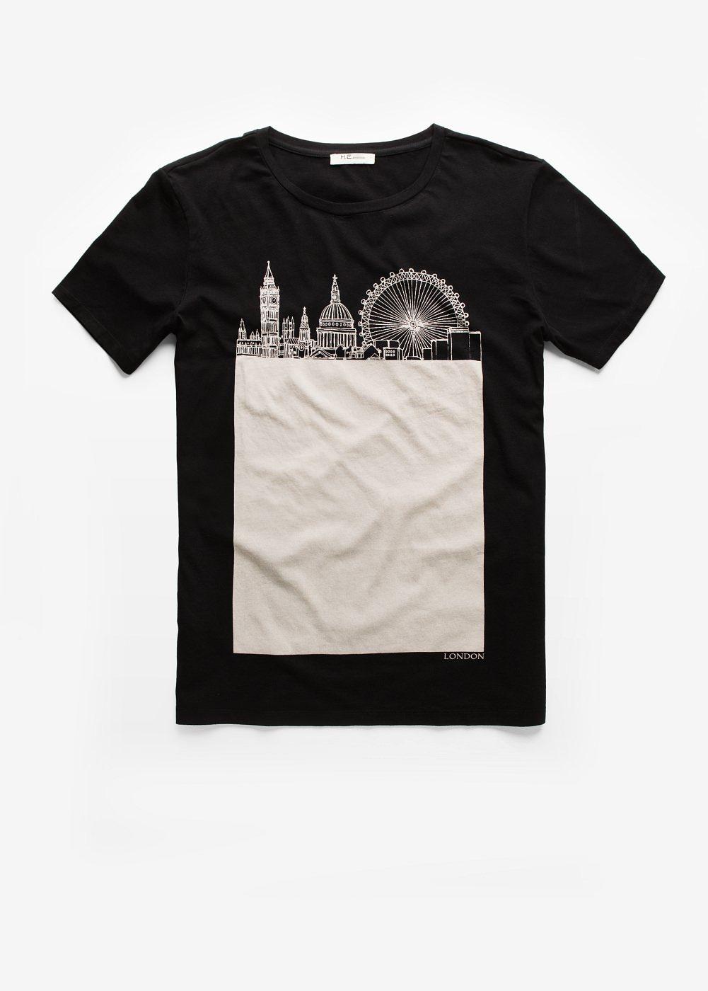 deb2565611 Camiseta skyline londres - Hombre