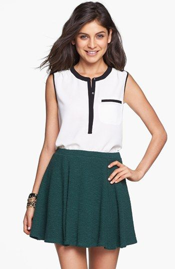 4ae72766cc64 Lily White Knit Skater Skirt (Juniors) available at #Nordstrom ...