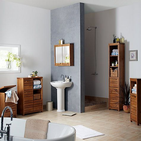 John Lewis Cayman Single Bathroom Floor Unit   Bathroom ...