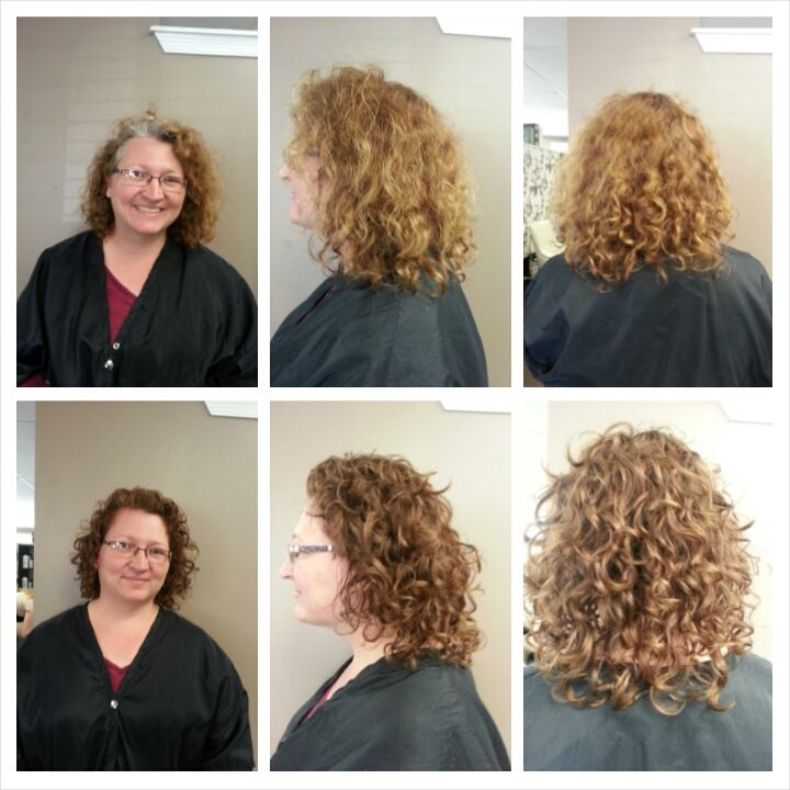 Before And After Client Received A Color Enhancement Ouidad Cut And
