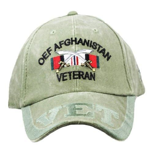 OEF Afghanistan Vet Embroidered Military Baseball Cap- OD Green ... 660ae93713f6
