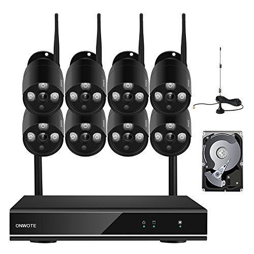 049c44b53da ONWOTE 1080P HD 8 Channel Wireless WiFi Security Camera System with 2TB  Hard Drive and 8
