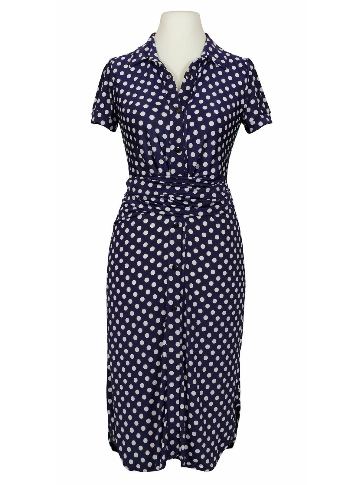 Jerseykleid Punkte, dunkelblau | Kleider, Kleid mit ärmel ...
