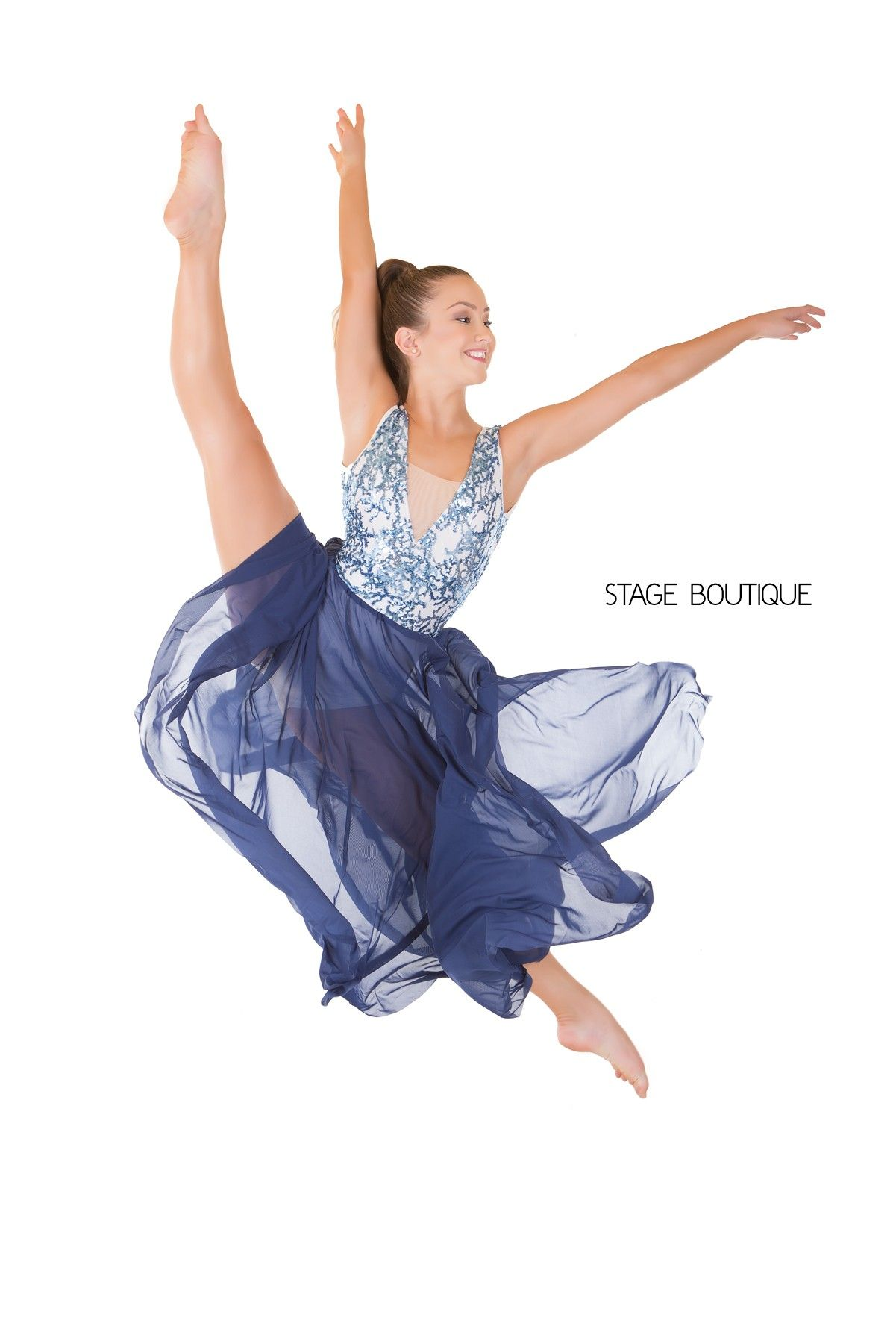 44c6e2893 White & Blue Sequin Dance Costume | Dance Costume ideas | Dance ...