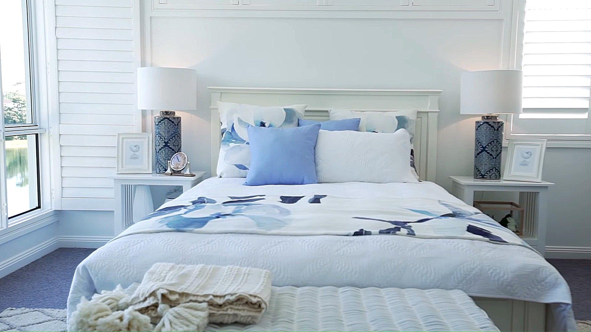Romantische Landhausstil Schlafzimmer Farbe Und Dekoration