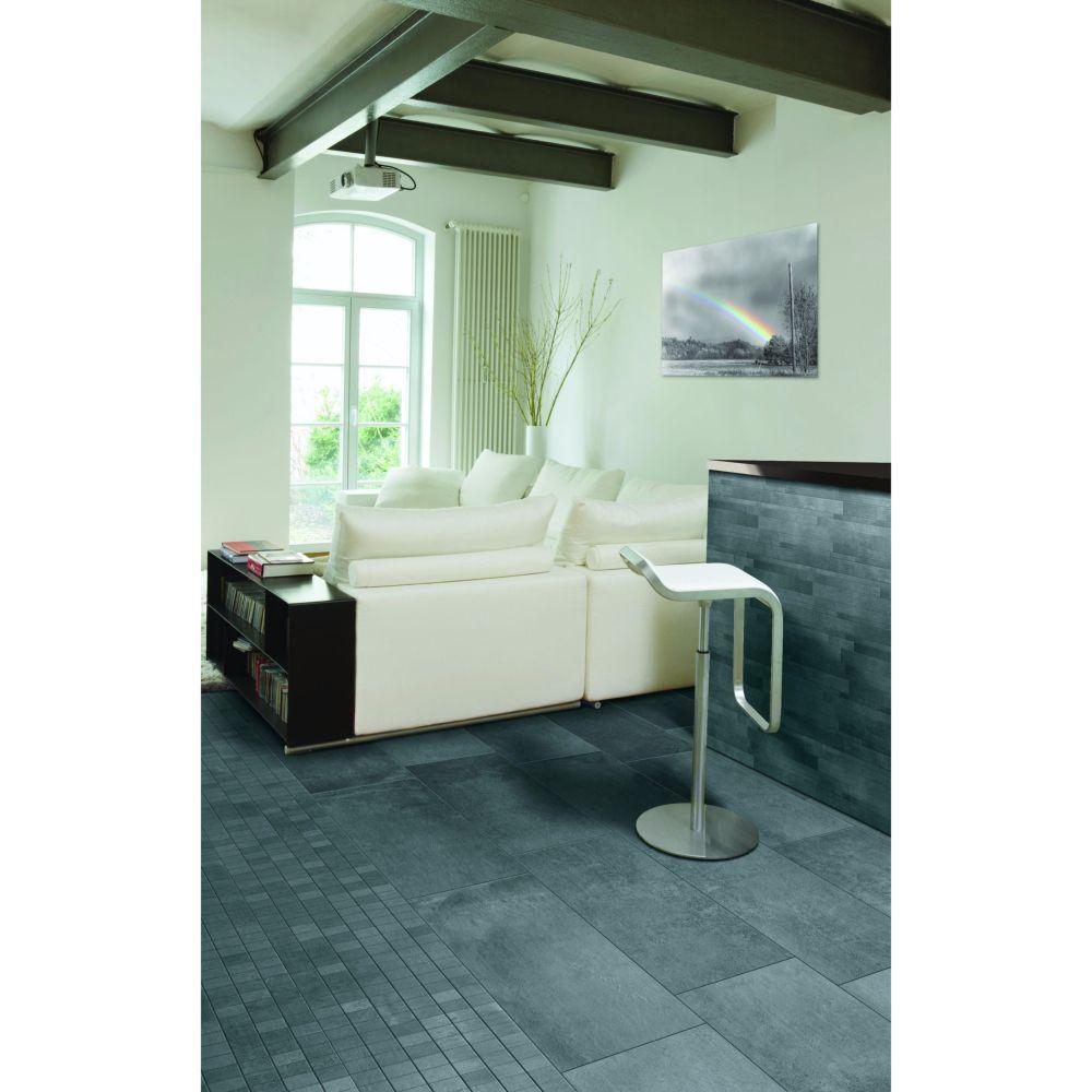 Carrelage Effet Beton Blanc 60x120 Dark Naturel Rectifie