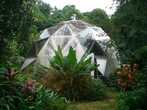 geodesic dome glass house nature