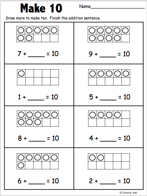Math In Focus Kindergarten Worksheets