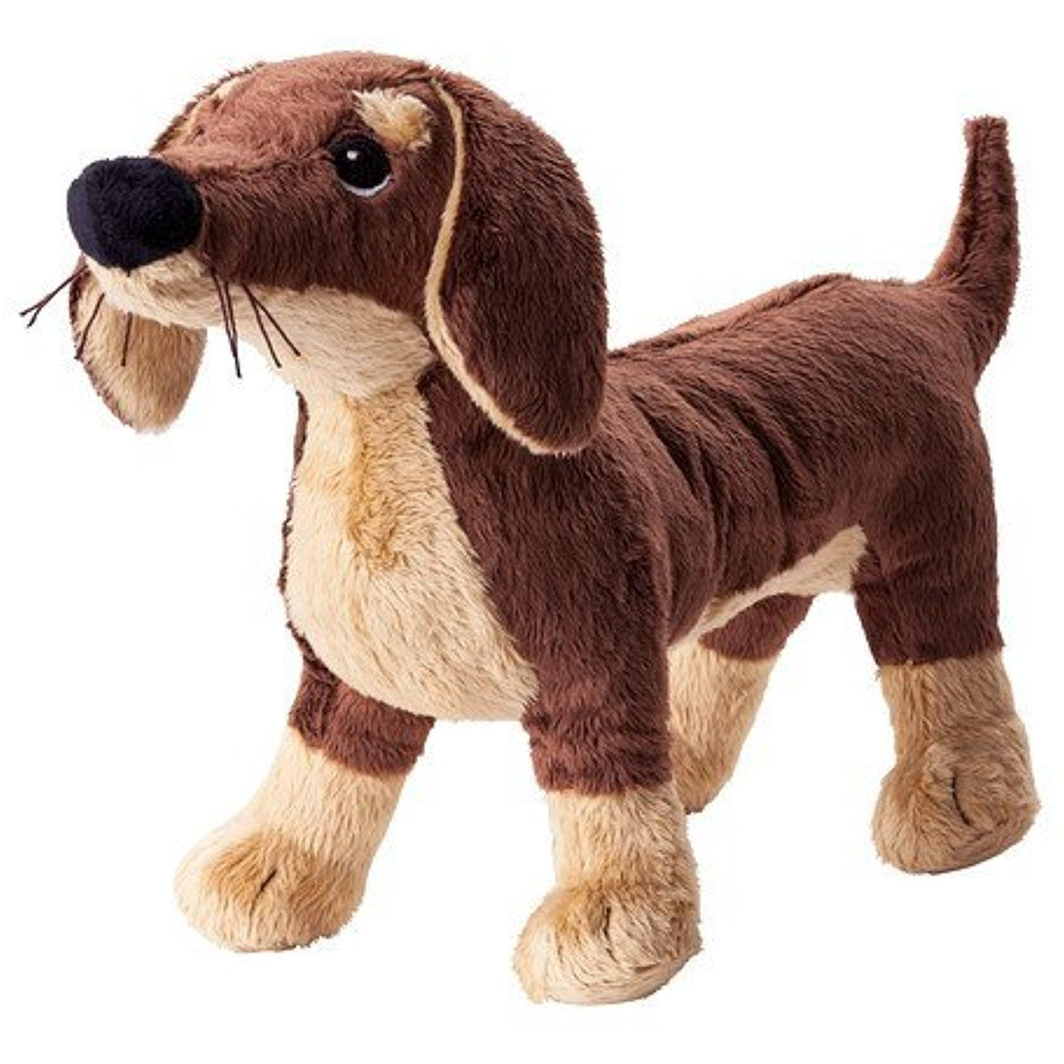 Ikea Stuffed Animal Dog Puppy Plush Soft Toy, Brown