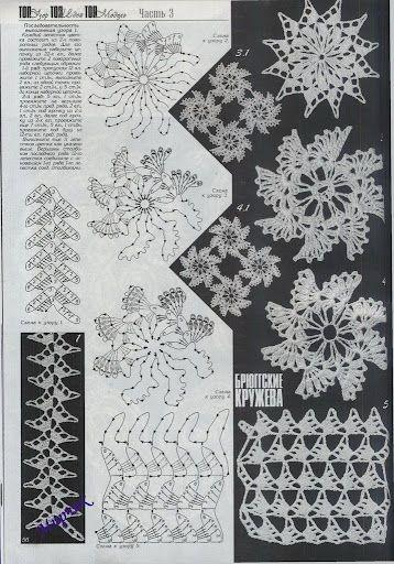 irish crochet motifs   Irish Crochet Lace (Irlandes) Motifs, Gotta ...