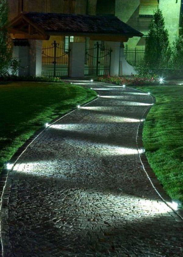 7 manières d\'éclairer son allée de jardin | Gardens, Architecture ...