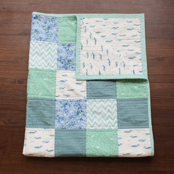 The Nautical Quilt baby nautical quilt nursery by BirchTreeBundles