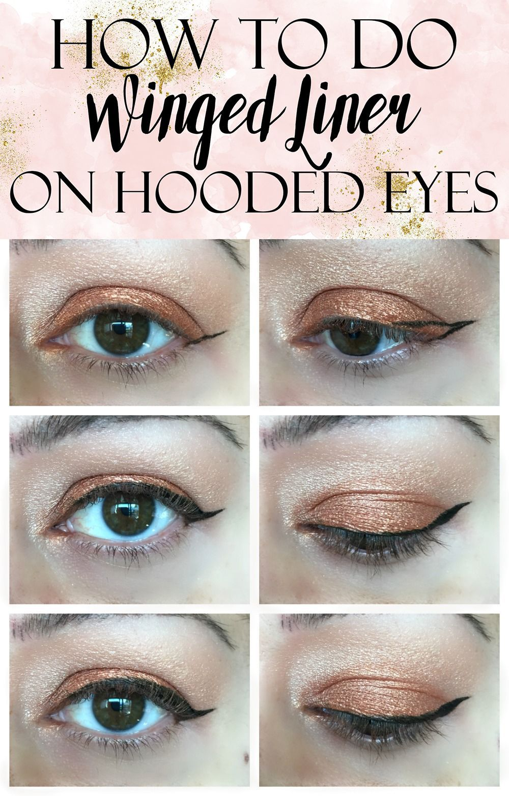 A quick easy tutorial on how to apply winged liner on hooded eyes easy winged eye liner tutorial for hooded eye lids baditri Choice Image