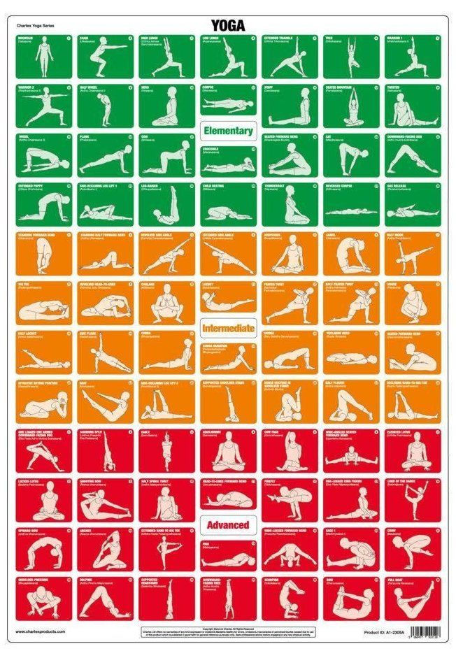 Yoga Exercise Chart 84 Yoga Asanas 84yogaasanas 84 Popular Yoga Poses Suit All Ages And Ranges Of Ability In 2020 Popular Yoga Poses Yoga Poses Names Workout Chart