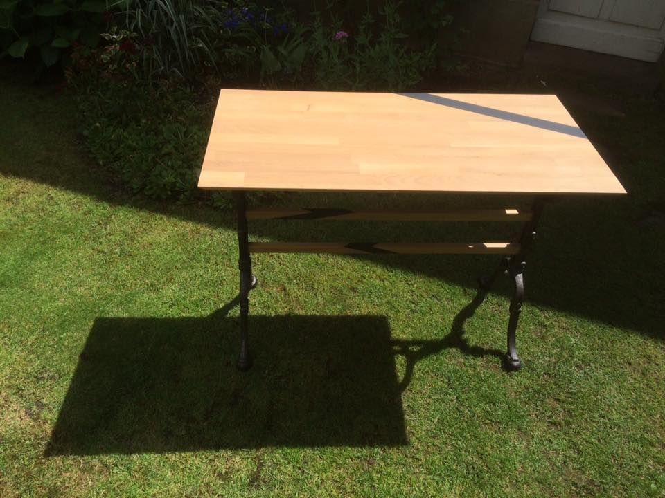 TABLE BISTROT 150u20ac ESSENCE CHÊNE CLAIR PEINTURE GRIS ANTHRACITE - peinture satin ou mat
