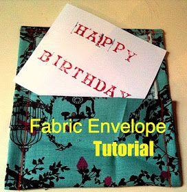 meremade: Fabric Envelope Tutorial