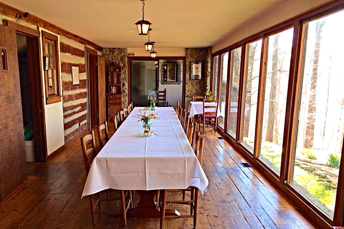 Dining room with a view! (Hachland Bed & Breakfast Cabin