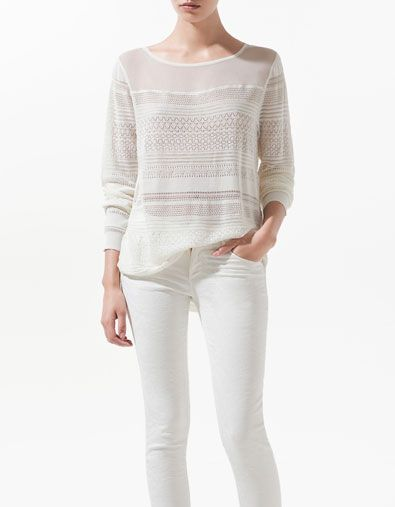 5dddad89ff2fe COMBINED FABRIC SILK TOP - Shirts - Woman - New collection - ZARA United  States