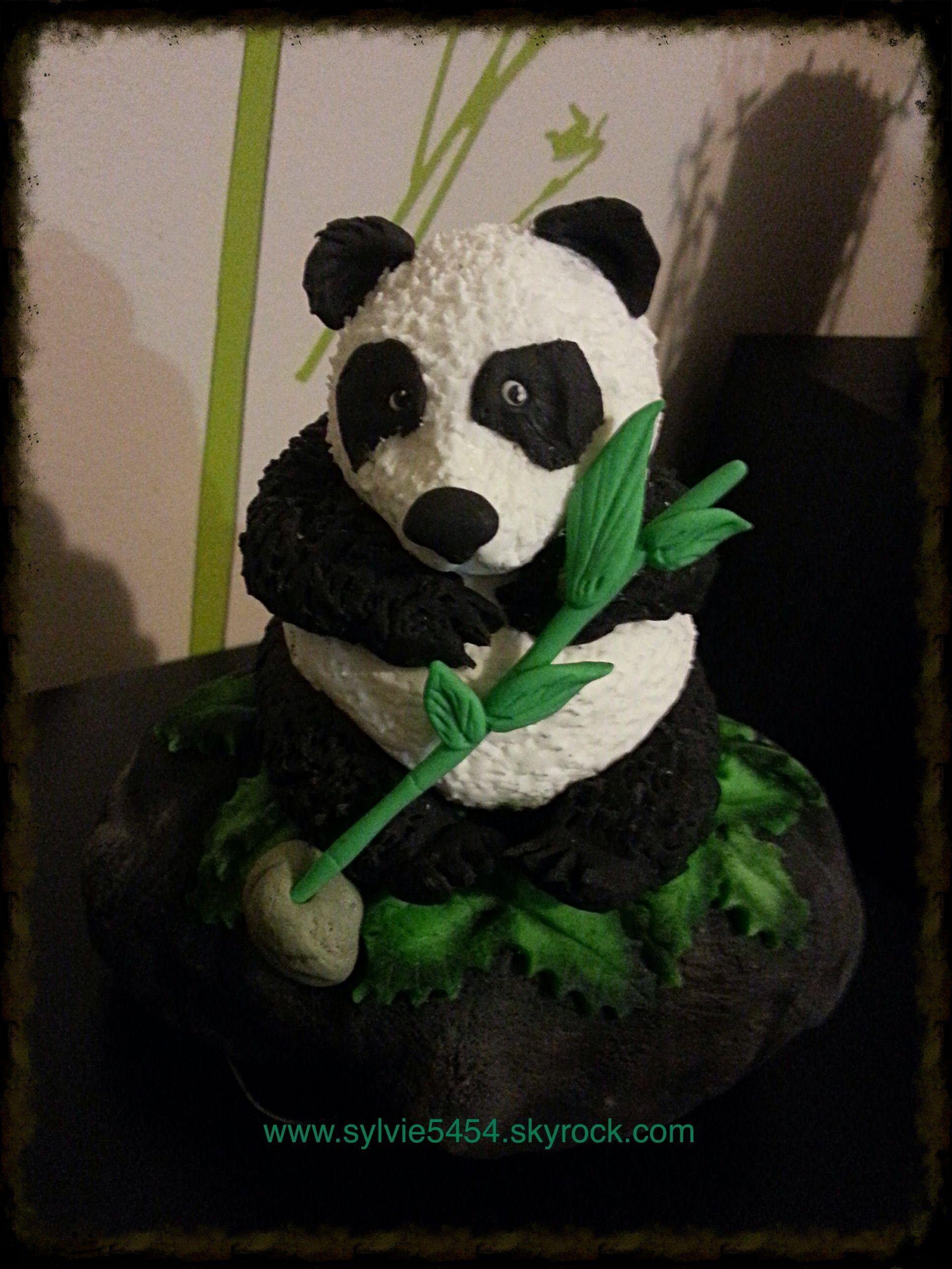 figurine panda en pate a sucre mes creation de biscuit et gateau decore pinterest cake. Black Bedroom Furniture Sets. Home Design Ideas