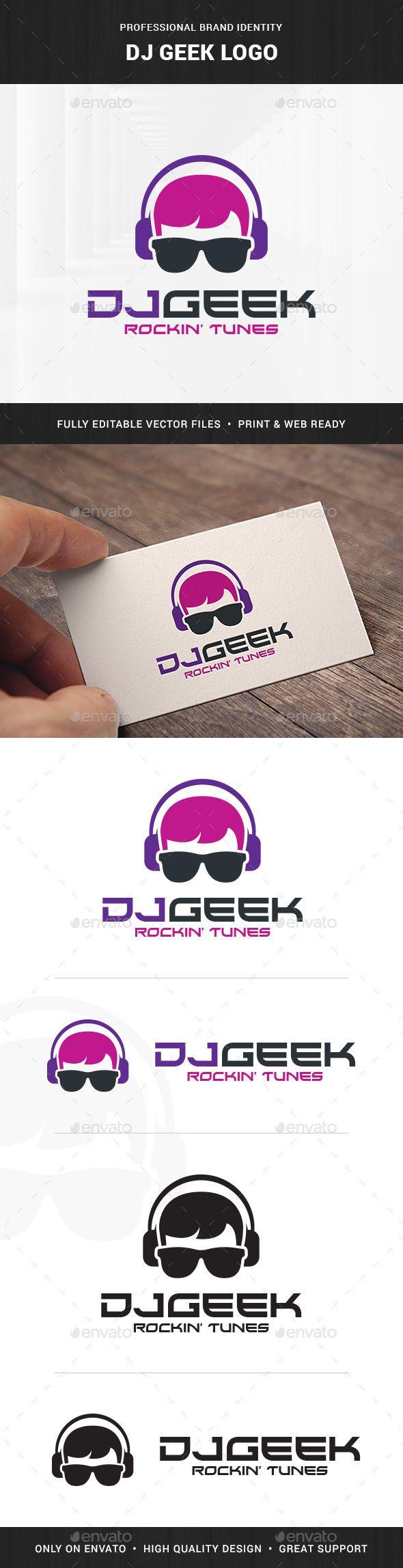 DJ Geek Logo Template | Pinterest | Logo templates, Dj and Template
