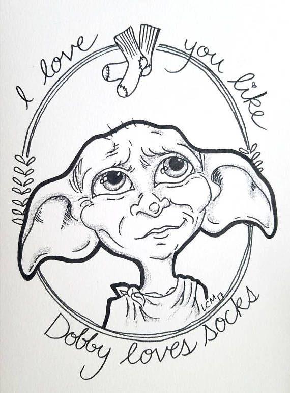 Dobby the house elf #tattoodrawings