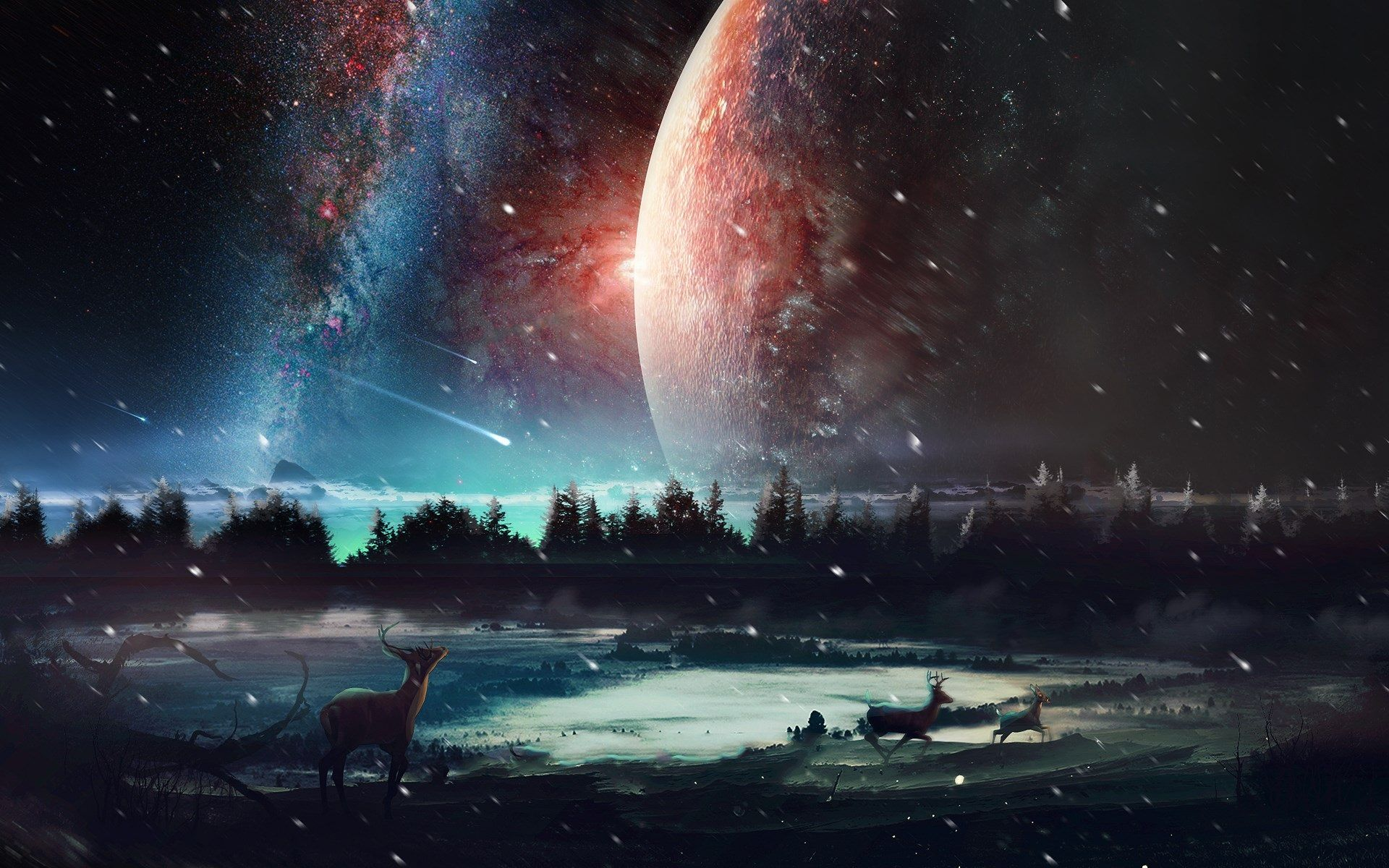 1920x1200 Universe Wallpaper Pc Background Planets Wallpaper Background Images World Wallpaper