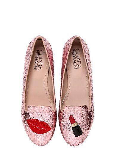 396afc76a31 Chiara Ferragni - 10mm Lipstick  Glitter  shoes