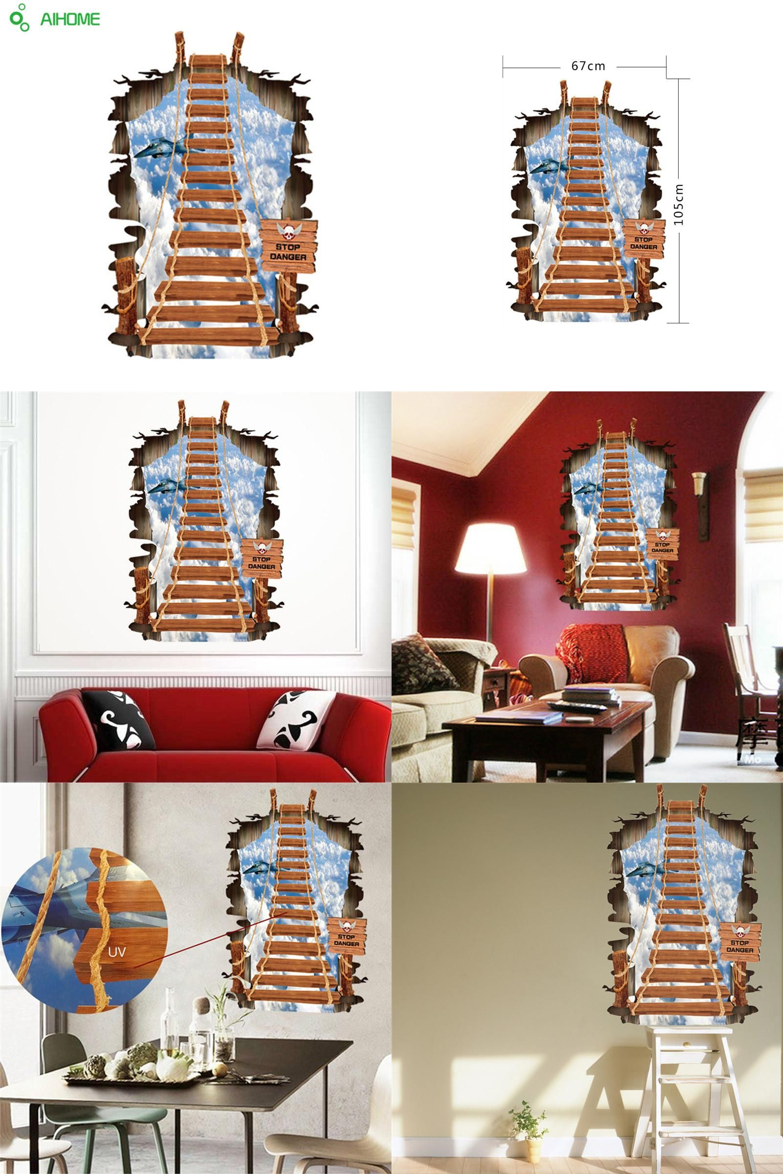 Visit to buy d stairs personality fashion creative ladder sky wall