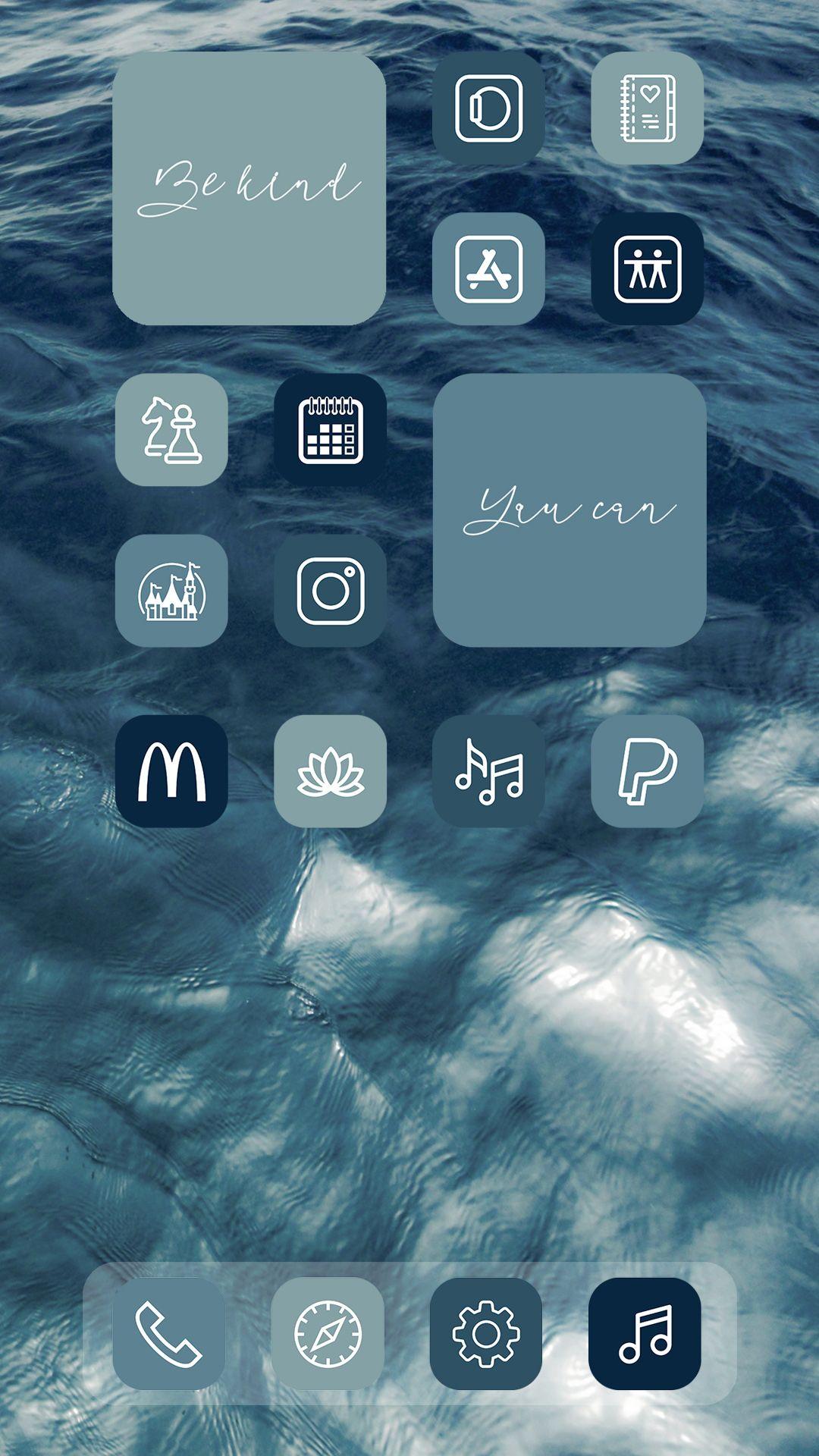 Ios 14 icons nautical Aesthetic ios 14 - etsy