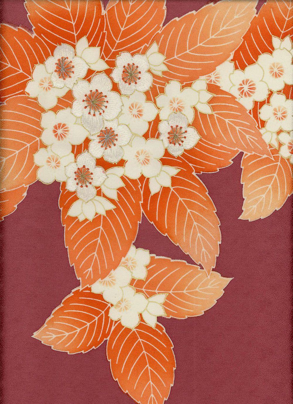 Detail of a silk kimono panel, 1950-1980, Japan