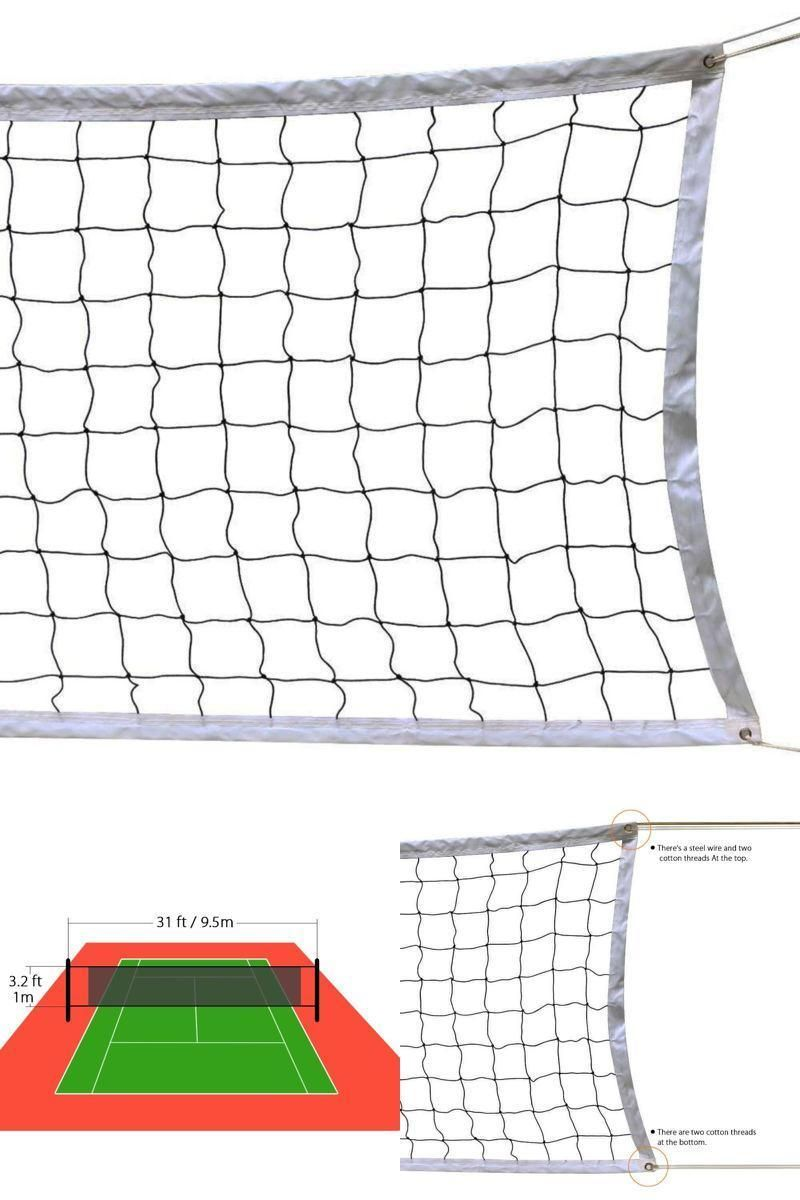 Great Design With Multiple Uses For Indoor And Outdoor Both Volleyball Net With Steel Cable Reinforced Polyester Netting Beach Play Volleyball Net Volleyball