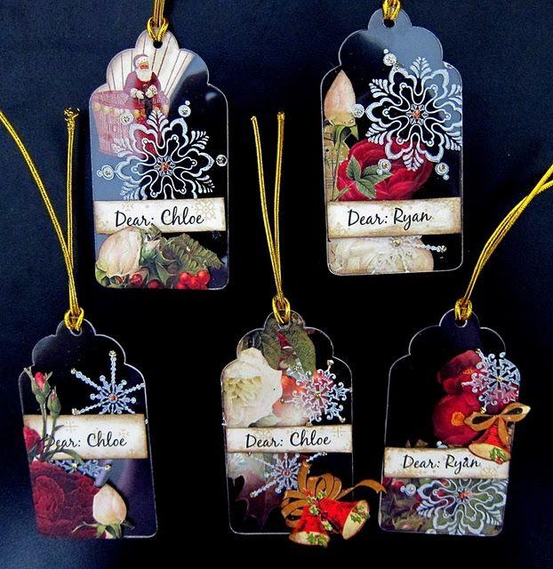 tags acryliques de Noël
