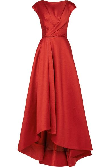 Red taffeta Concealed hook and zip fastening at back 85% polyester, 11% silk, 4% polyamide; lining: 100% cotton Dry clean Designer color: Watermelon