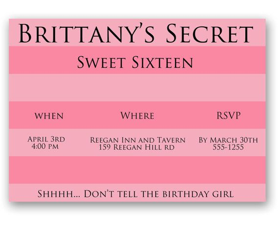 Victoria S Secret Birthday Invitation By Paintingwithpixels