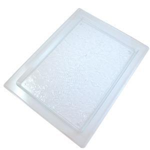 Rechteckige Servierplatte in Glasoptik 42cm Glas