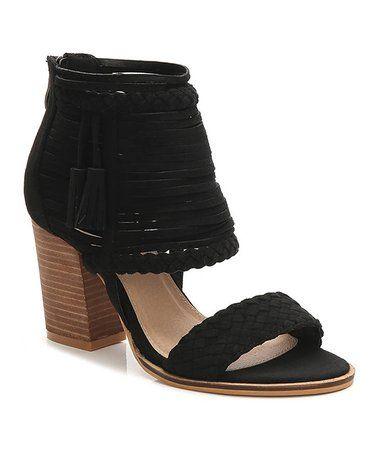 309740dac Look at this  zulilyfind! Black Memphis Tassel Sandal - Women ...