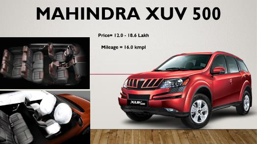 Mahindra Xuv 500 Model Power Mileage Safety Colors Sagmart