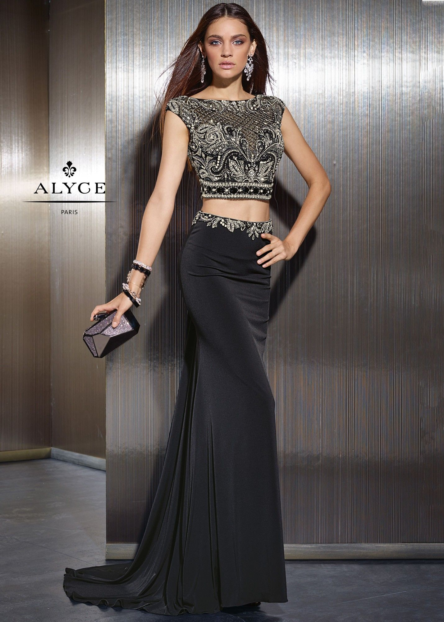 Claudine For Alyce 2480 Sexy Convertible Two Piece Gown