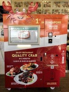 Singapore Cooked Crab Vending Machine